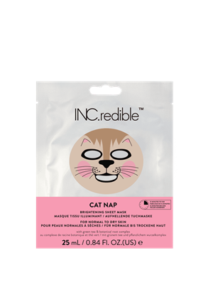 INC.redible Cosmetics Cat Nap Brightening Face Mask