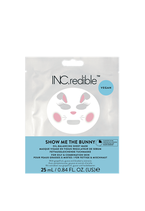 INC.redible Cosmetics Show Me The Bunny Oil Balancing Face Mask