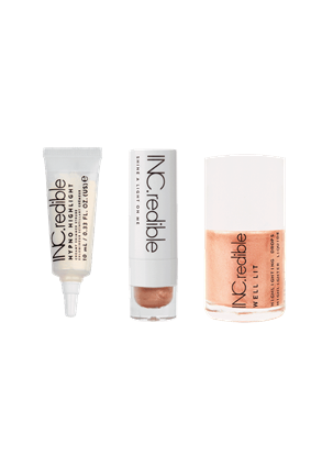 INC.redible Cosmetics Glow Essentials Kit Lip Balm set