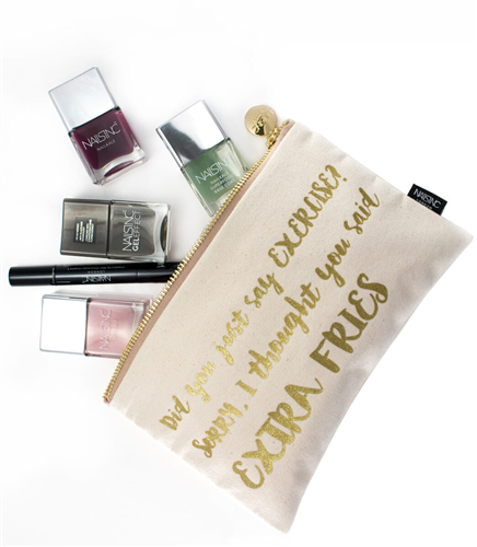 Did you say exercise? Make-up Bag