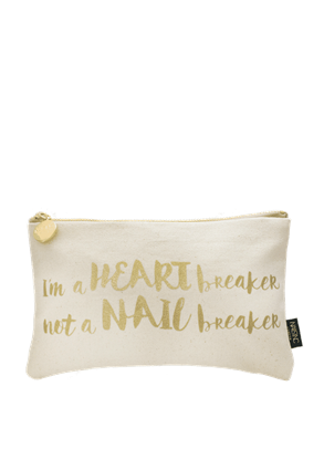 Nails.INC I'm a Heart Breaker Not a Nail Breaker Make-up Bag