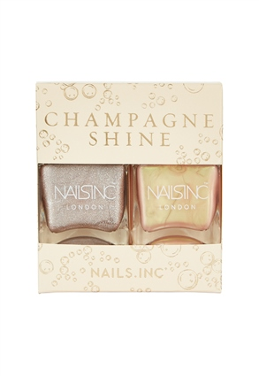 Nails.INC Champagne Shine Nail Polish Duo