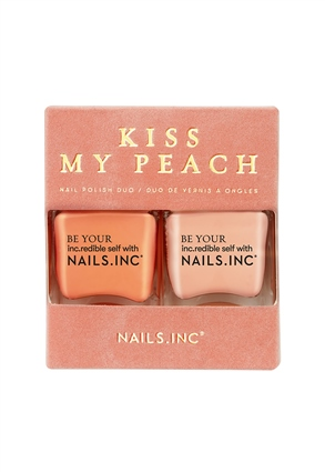 Nails.INC Kiss My Peach Nail Polish Duo