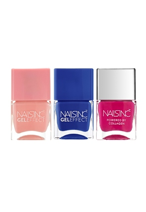 Nails.INC The Parade Gel Effect Trio Nail Polish set