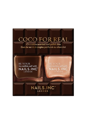 Nails.INC Coco For Real Chocolate scented Nail Polish Duo