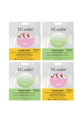 INC.redible Cosmetics Sheet Mask 4-Piece Kit