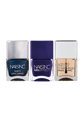 Nails.INC Late Night Unicorn Nail Polish Trio
