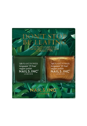 Nails.INC Don't Stop Be-Leafing Plant Based Vegan Nail Polish Duo