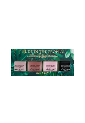 Nails.INC Nude In The Tropics 4-Piece Vegan Nail Polish Set