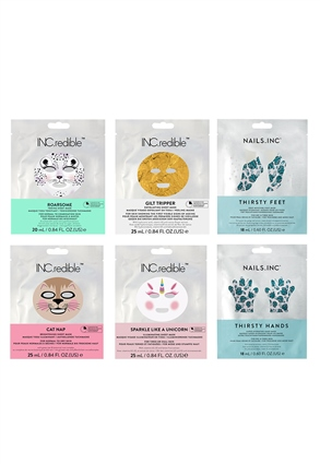 Nails.INC Face, Hands and Feet 6-Piece Pamper Masking Kit