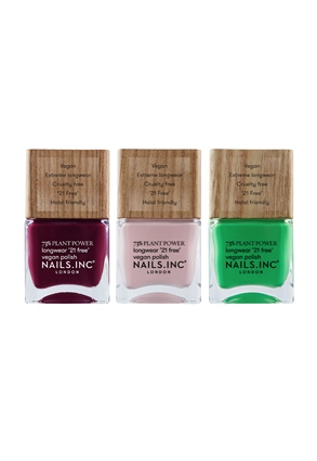 Nails.INC Plant Power Vegan Nail Polish Trio
