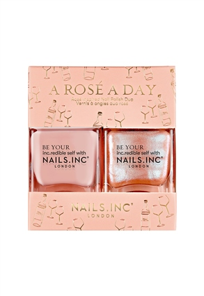 Nails.INC A Rosé A Day Scented Nail Polish Duo