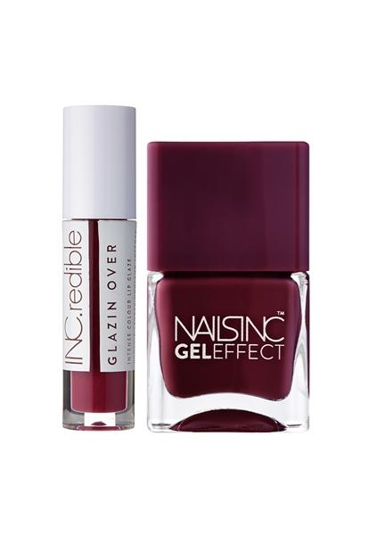 Deep Nail Polish & Lip Duo   - Click to view a larger image
