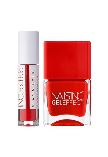 Red Nail Polish & Lip Duo   - Click to view a larger image
