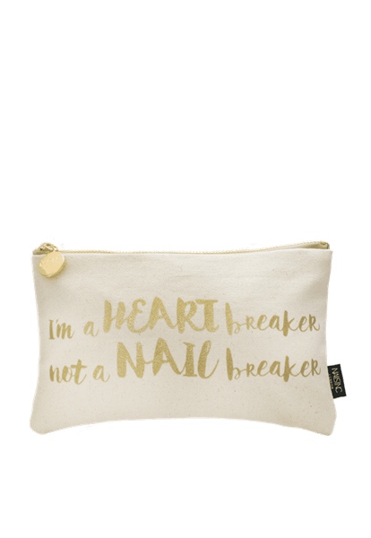 I'm a Heart Breaker Not a Nail Breaker Make-up Bag  - Click to view a larger image