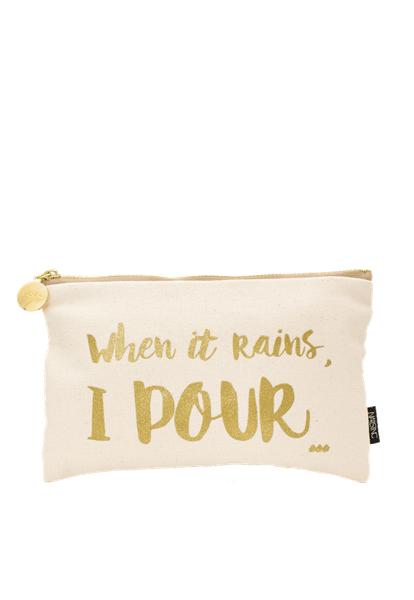 When It Rains, I Pour Make-up Bag  - Click to view a larger image