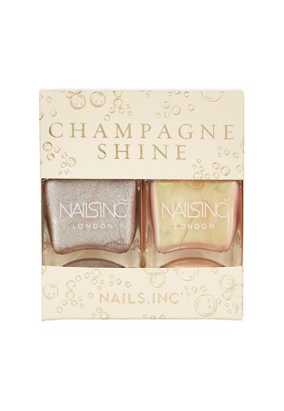 Champagne Shine Nail Polish Duo  - Click to view a larger image