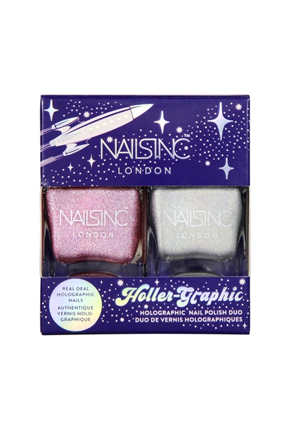 Holler Graphic Nail Polish Duo  - Click to view a larger image