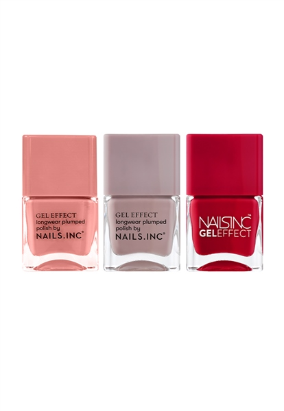 Gel Effect Nail Polish Trio  - Click to view a larger image