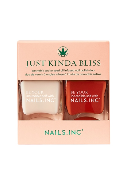 Just Kinda Bliss Duo Sativa Seed Oil Infused Nail Polish Duo  - Click to view a larger image