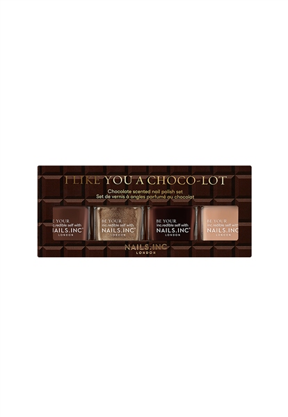 I Like You A Choco-Lot 4-Piece Nail Polish Set  - Click to view a larger image