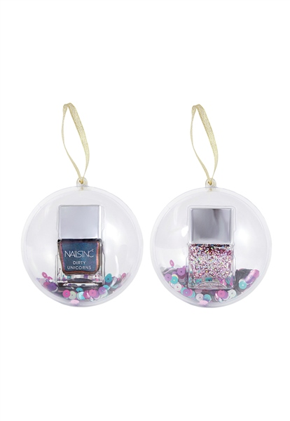 Festive Nail Polish Bauble Duo  - Click to view a larger image
