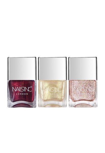 Metallic Magic Nail Polish Trio  - Click to view a larger image