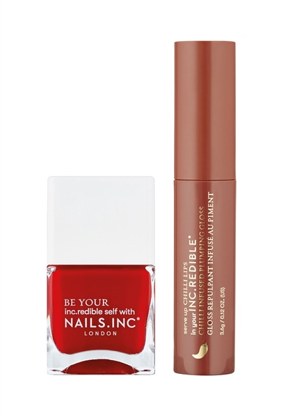 Naughty Or Spice Nail Polish and Lip Duo  - Click to view a larger image