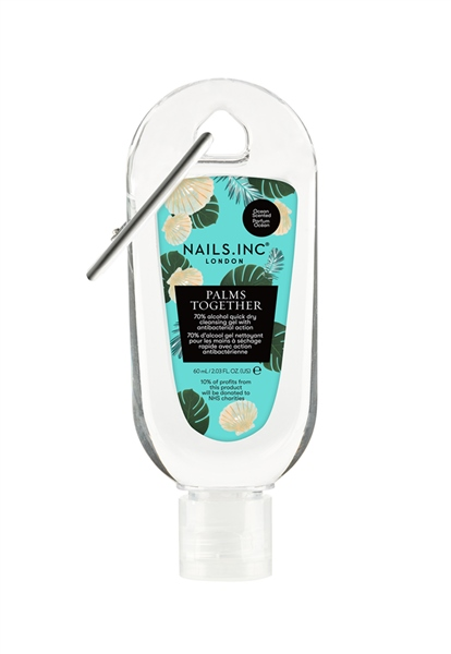 Palms Together Clipped Hand Sanitiser Gel Sea Breeze Scent 60ml  - Click to view a larger image