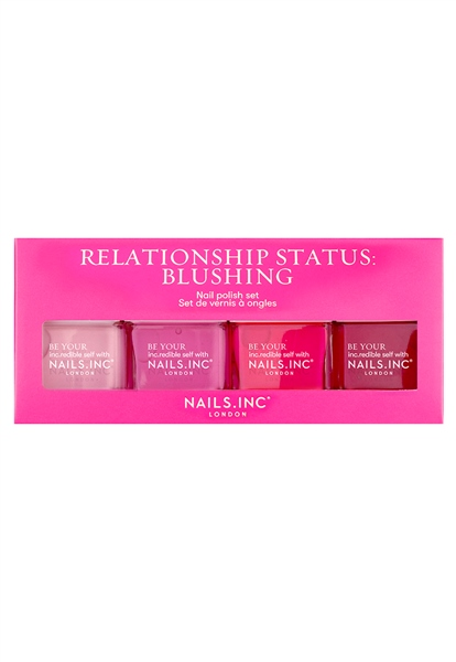 Relationship Status: Blushing 4-Piece Nail Polish Set 1